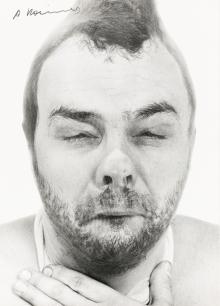 """Arnulf Rainer, Buddhas Erwachen (aus der Serie """"Face Farces"""")"""