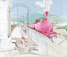 Siegfried Anzinger, Bahnhof (inkl. Originalskizze)