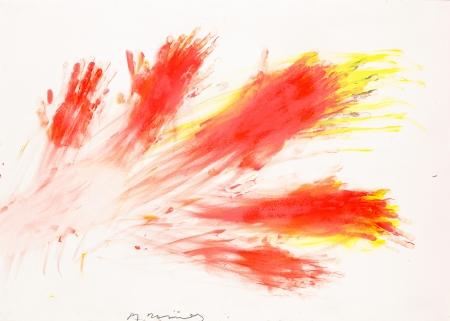 Arnulf Rainer, Handdruckreiber (Fingermalerei)
