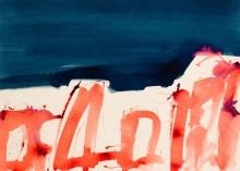Markus Prachensky, Rot und blaue Fläche - Solitude