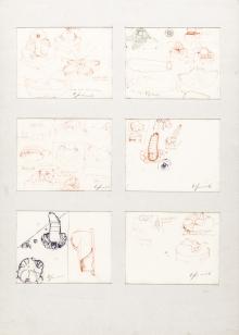 Bruno Gironcoli, Ohne Titel (6 Skizzen) / untitled (6 sketches)