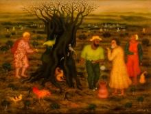 Arik Brauer, Der verbrannte Baum