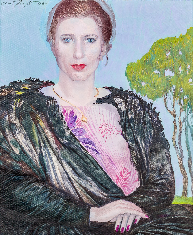 Ernst Fuchs, Dame in Landschaft