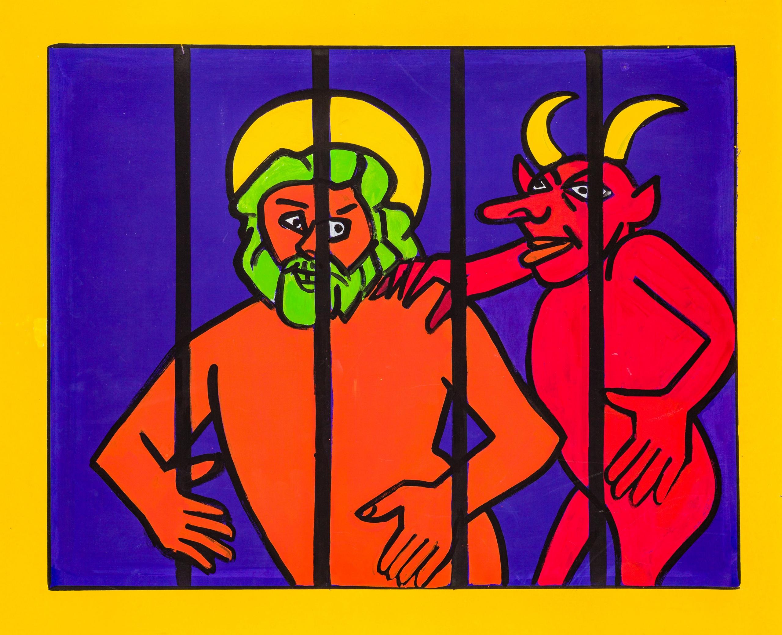Otto Mühl, Gott und Teufel