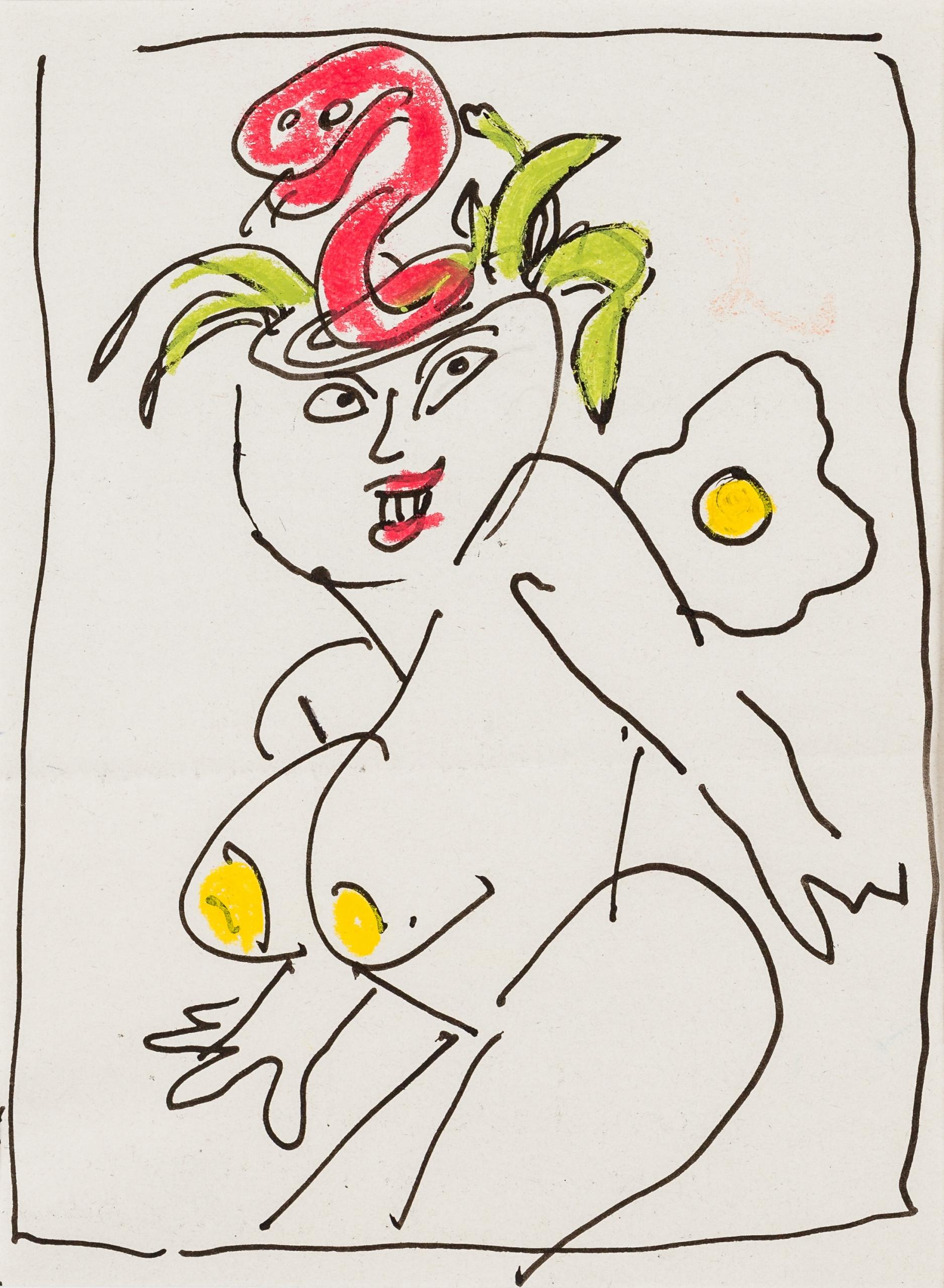 Otto Mühl, (ohne Titel) (5 Gefängnisbriefe und Karten)