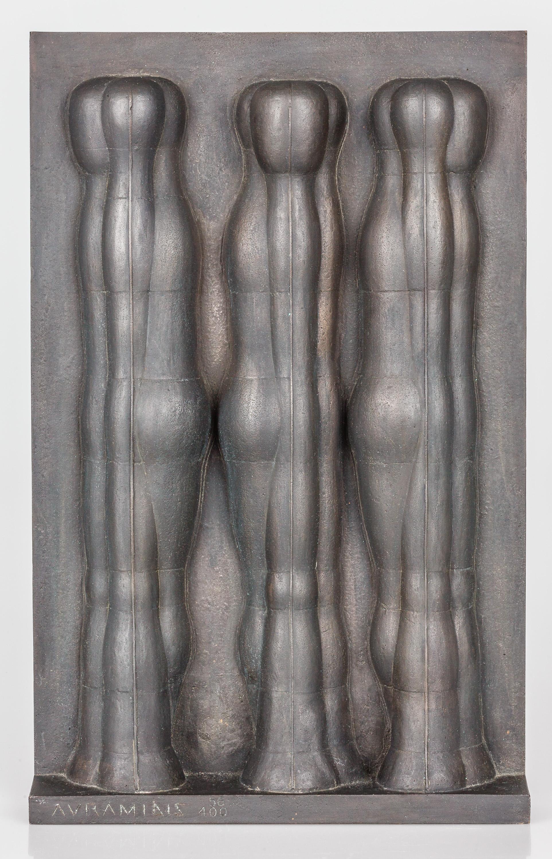 Joannis Avramidis, (ohne Titel) (Drei-Figuren-Relief)