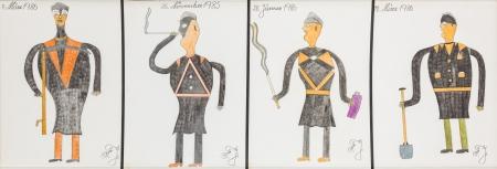 Johann Fischer, Vier Männer