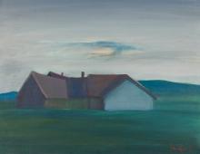 Alfred Kornberger, Bauernhof mit Wiese