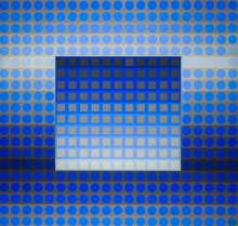 Victor Vasarely, ZETT I. GREY/BLUE