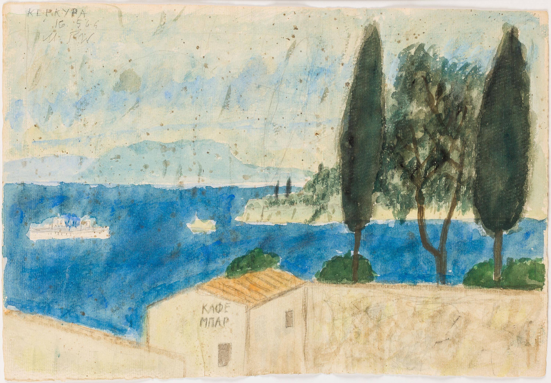 Max Peiffer-Watenphul, Korfu, Landschaft mit Café